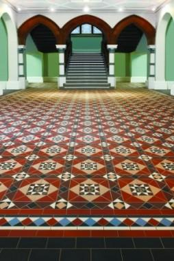 Ryan's Mozaiektegelvloer, patroon: Hatfield