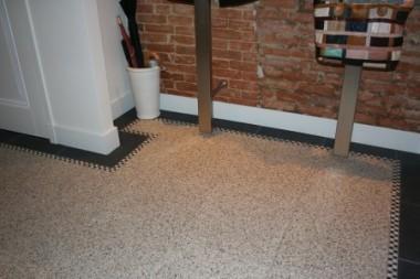 Terrazzo vloertegels of Granito vloertegels met rand van marmerblokjes